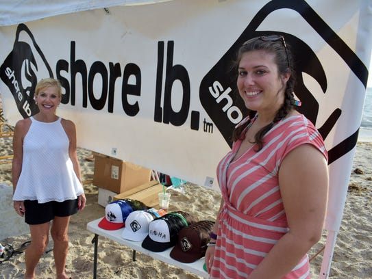 Kathy Waggoner and Anna Kay Ellison set up the Shore