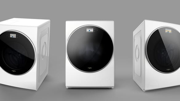 a washing machine that dries clothes