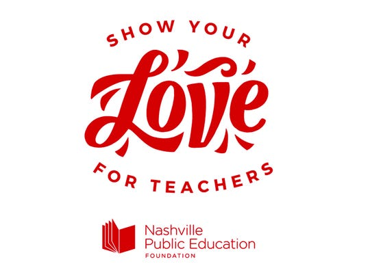 Show Your Love For Teachers logo of the Nashville Public