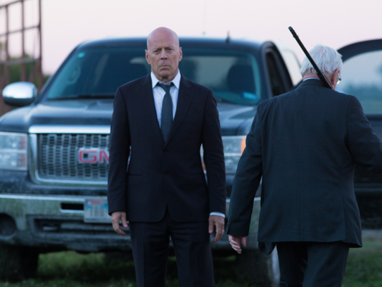 Bruce Willis and Len Cariou respond to guns with more