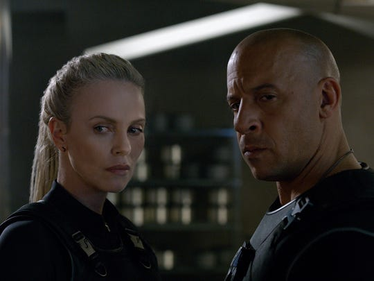 Charlize Theron and Vin Diesel are up to no good in