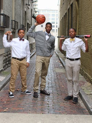 The Sole Bros, from left, Kellen Newman, Curtis Harrison IV, and Spencer Boyd II.