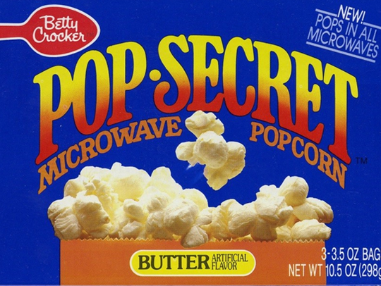 General Mills created the microwave popcorn bag.