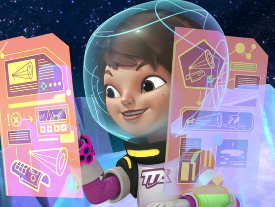 """Loretta, the sister in """"Miles from Tomorrowland,"""" uses"""