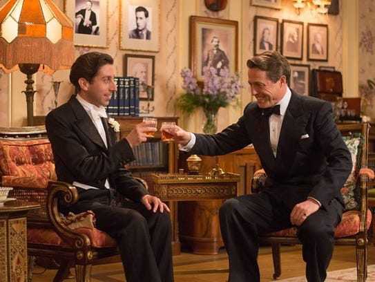"Simon Helberg and Hugh Grant in ""Florence Foster Jenkins."""