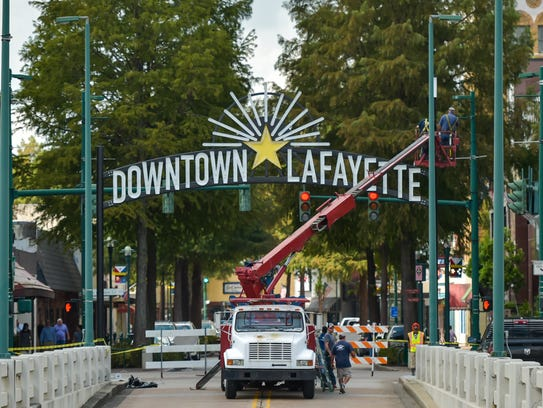 Downtown Gateway Sign Installed