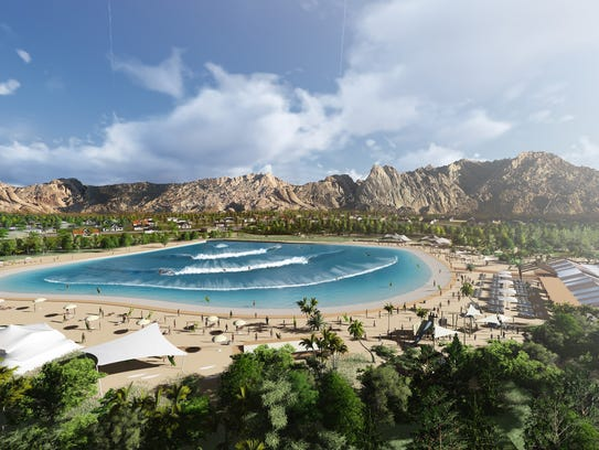 An artist's rendering of Honokea Surf Resort, a real