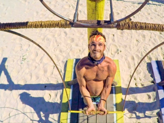 Knoxville's Michael Yerger competes in an immunity
