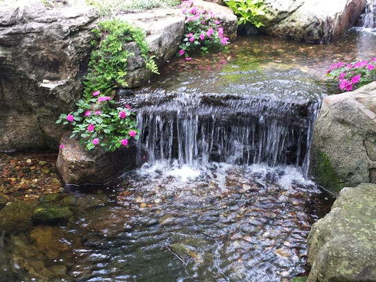 This pond with waterfall will be on the Aquatica Water