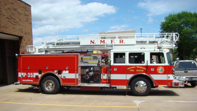 Neenah-Menasha Fire Rescue has recommended replacing its 1991 Pierce fire truck, shown here in 2010, rather than proceeding with major repairs.