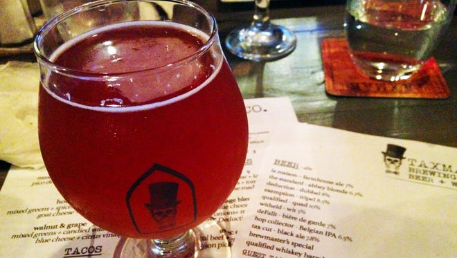 The beer called deFallt at Taxman Brewing is a biere de garde style packed full of fall flavors.