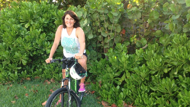 Michelle Mulak hits the trails for some off-road bike riding.