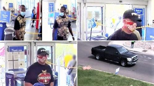 Pueblo Police Department officers are seeking the public's help in identifying these two theft suspects and their vehicle.