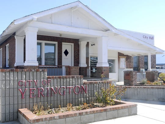 The city of Yerington is looking at moving its city hall to a larger facility.