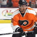 Sam Gagner is now at center for the Flyers, his third position so far in training camp.