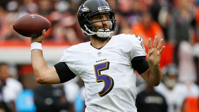 Ravens quarterback Joe Flacco