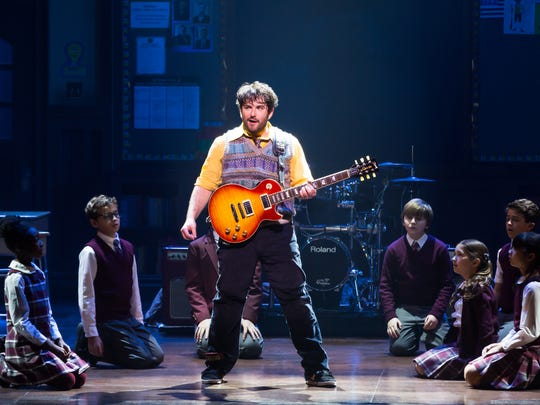 "Alex Brightman in Broadway's ""School of Rock."""