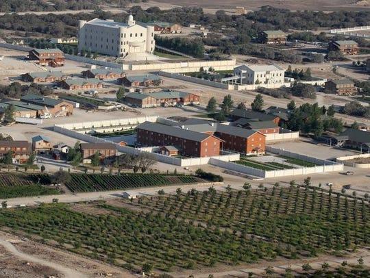 An aerial photograph shows the Fundamentalist Church