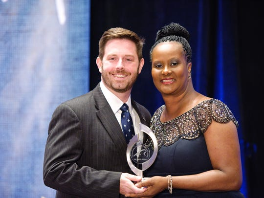 Angel Award honoree Dr. Ruby C. Scroggins with Blue