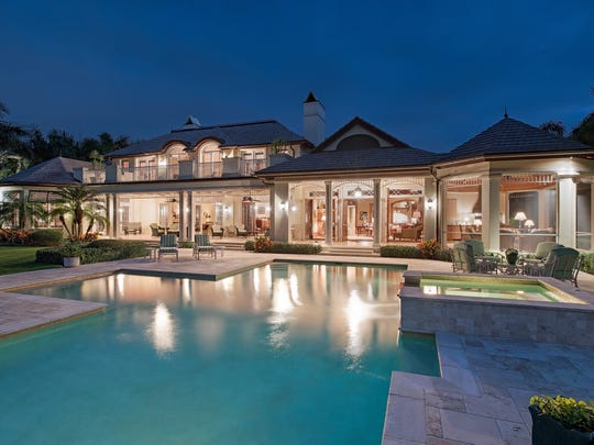 This estate at 4100 Rum Row sold for $12.2 million on July 14, 2017.