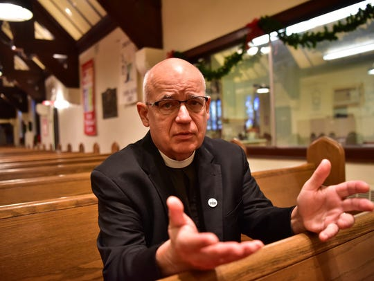 The Rev. Thomas Pranschke of Zion Lutheran Church in Westwood.