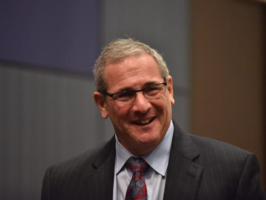 Giants new general manager Dave Gettleman was introduced