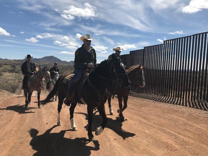 Interior Secretary Ryan Zinke toured the U.S.-Mexico