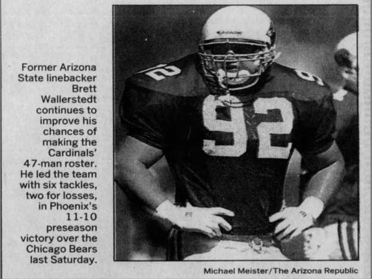 A photo of Brett Wallerstedt from the Aug. 21, 1993