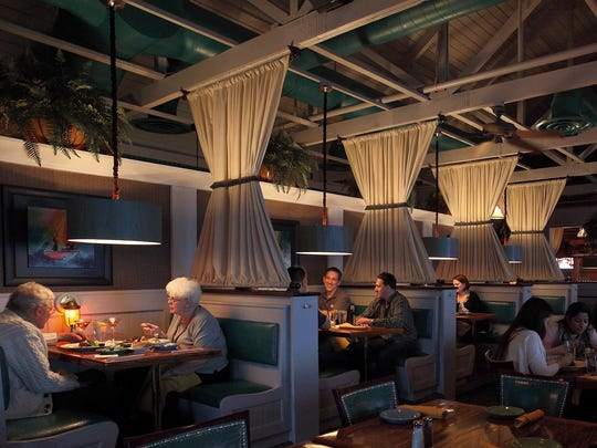 A recent redesign of the BoatYard Grill's interior feels like a welcoming yacht club.