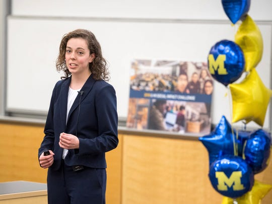 Brie Riley, a junior at the University of Michigan