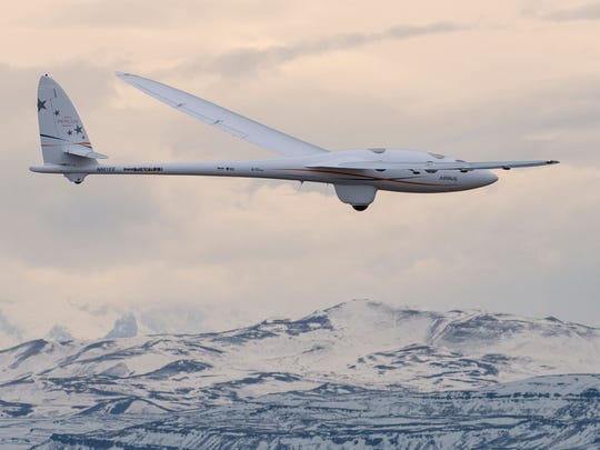 The Airbus Perlan Mission 2 glider soars above the
