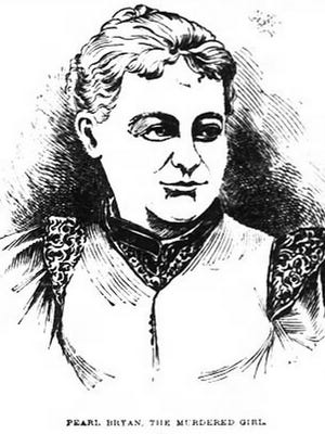 An illustration of Pearl Bryan from a 1896 edition of The Enquirer.
