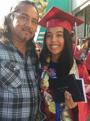 """Wishing our daughter Temberlin Eve Pangelinan """"Congratulations,"""" on her Graduation from Okkodo High School."""