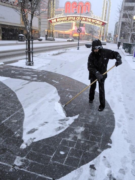 Reno snow file photo