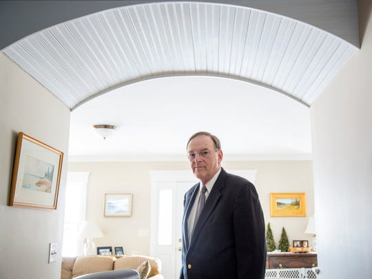 Former U.S. Attorney for Maine Thomas Delahanty II stands for a picture at his home in Falmouth in March 2017. Delahanty lost his job as U.S. attorney when President Trump asked all 46 remaining Obama U.S. attorneys to resign.