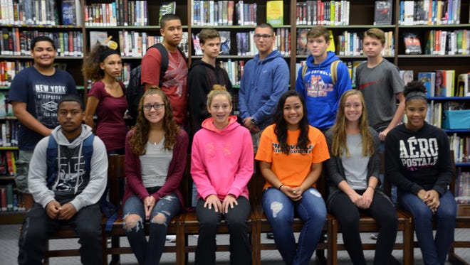 Millville Memorial High School's Students of the Month for November are: Art: Joshua Mateo; Music: Cristal Arroyo; Science: Kayla Hruska and Chaz-Pierce Garrison; History: Daniel Baer and Savannah Riley; English: Alexandra Kukal and Diamond Mooney; Math: Zachary Nolter and Nahriya Holley; World Languages: Dylan Massey; Business: Kayla Grablow; Physical Education: Jesus Carrero; Technology: Wesley Pezzella; Health: Kelsey Andres; AVID: Daleisha Johnson; English as a Second Language: Amneris Colon; and Read 180: Shawnae' Bartley. Amneris Colon, Shawnae' Bartley, Daleisha Johnson and Savannah Riley are not pictured.