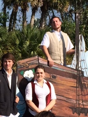 High school students Tony Ferretti, John Sutter and Richelle Reed answer questions about the Mayflower.