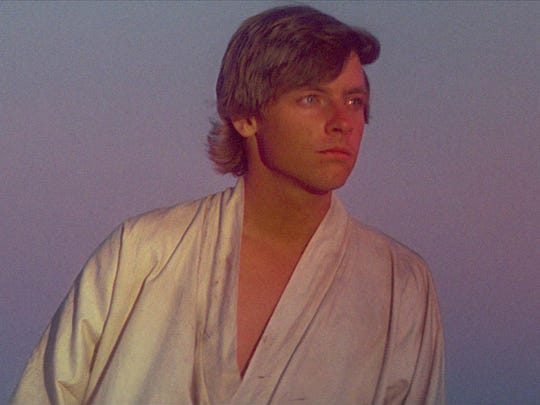 """Mark Hamill as Luke Skywalker in a scene from the motion picture """"Star Wars: Episode IV - A New Hope."""""""