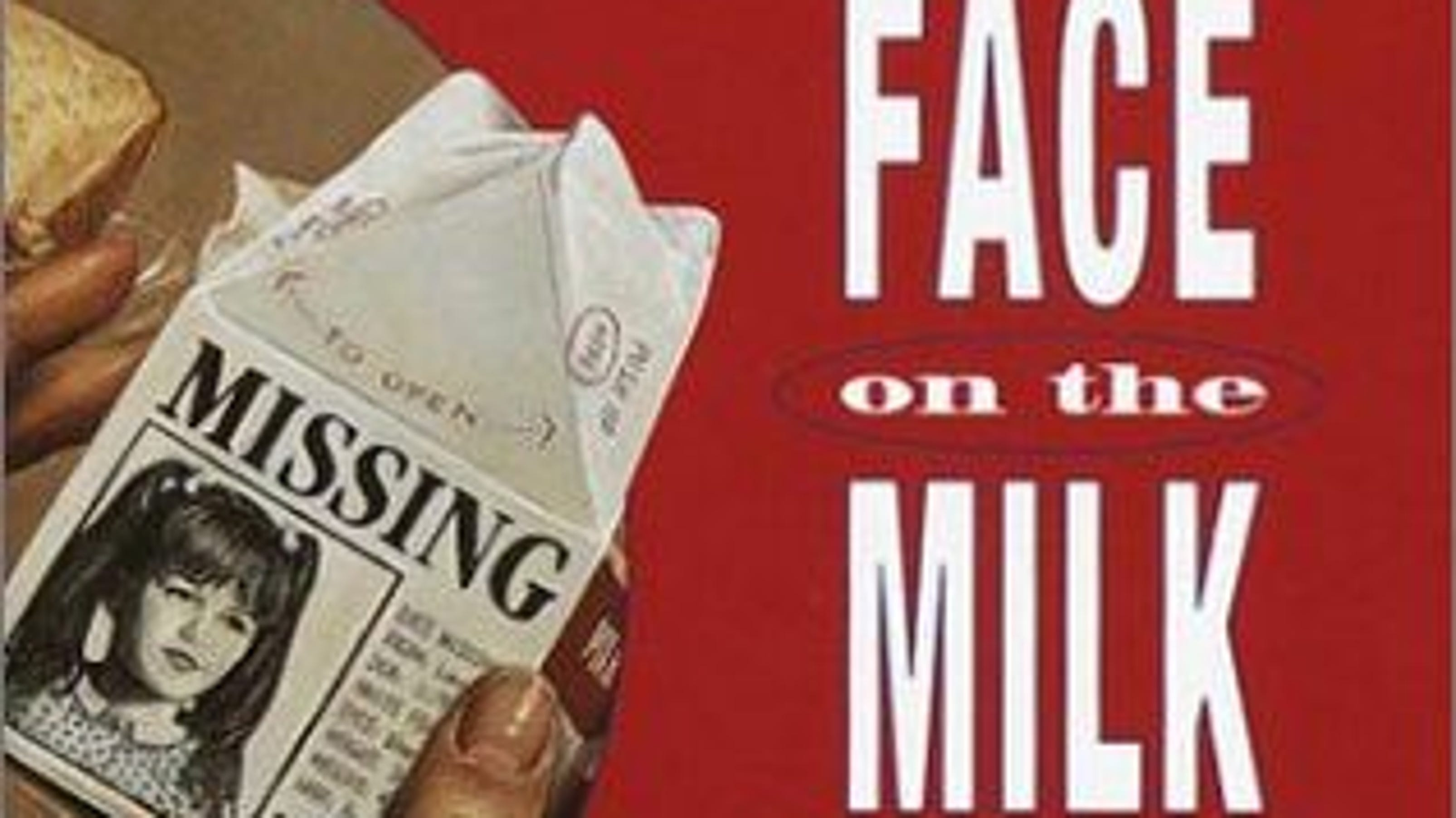 Pictures of the face on milk carton