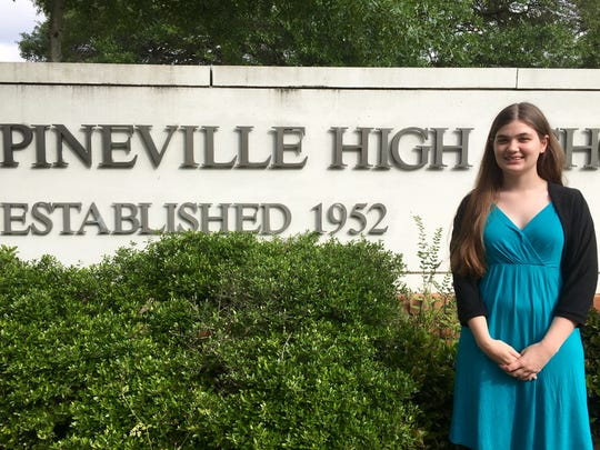 Pineville High senior Maegan Dubroc has never missed a day of school.
