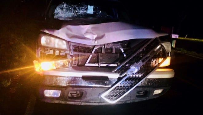 A pedestrian was struck by a pickup truck early Thursday morning on Lower Myrick Road in Jones County.