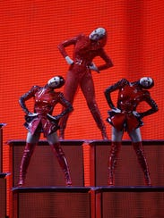 """Katy Perry performs in concert during the """"Witness:"""