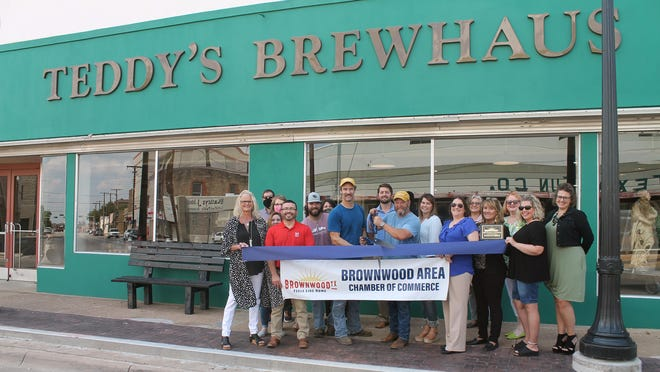 The Brownwood Area Chamber of Commerce held a ribbon cutting for Teddy's Brewhaus at 102 Fisk Ave. Opening its doors to the public for the first time in several months, this craft brewery planned to host a grand opening beginning at 4 on Thursday and lasting until closing. Teddy's specializes in handcrafted brews and chefs choice creations.
