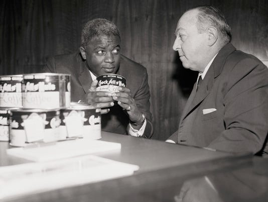 Jackie Robinson with William Black
