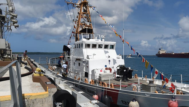 The Coast Guard Cutter Assateague.