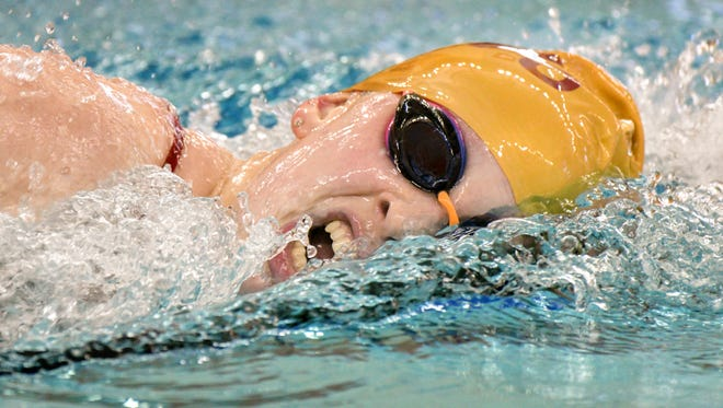 McCutcheon senior Kate Gallagher won the 500-yard freestyle at Saturday's Zionsville Sectional.