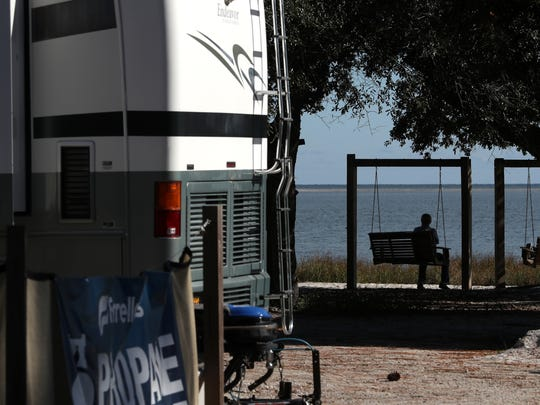 The Ho-Hum RV Park sits along a scenic stretch of gulf