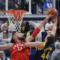 Injuries up front put Pacers in a bind against Raptors