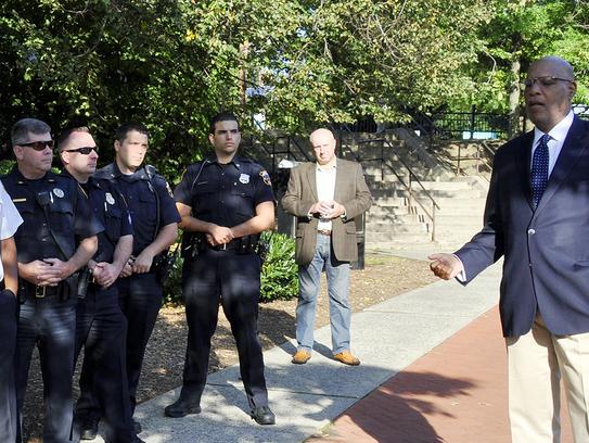 Montclair officials including Mayor Robert Jackson,