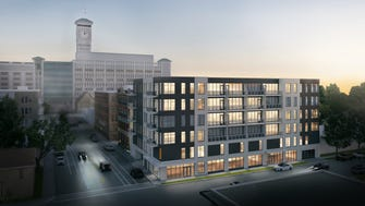 A six-story, 48-unit apartment building is being proposed a few blocks north of Rockwell Automation Inc.'s headquarters, in Walker's Point.